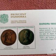 Francobolli: ANDORRA HB EPISCOPAL EUROPA 1980 NUEVO. Lote 235284265