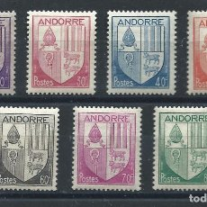 Sellos: ANDORRE N°93/99* (MH) 1944/46 - ARMOIRIES DES VALLÉES. Lote 235408090