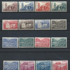 Sellos: ANDORRE N°100/4 + 106/8 + 109/18 **/* (MNH ET MH) 1944/46 - PAYSAGES. Lote 235410355