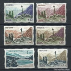 Sellos: ANDORRE N°158/59A + 161 + 164 + 204** (MNH) 1961/71 - PAYSAGES. Lote 235411910