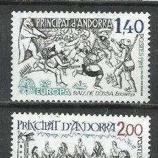 Sellos: 8136-ANDORRA FRANCESA SERIE COMPLETA EUROPA MNH** 1981 Nº 292/3. Lote 235548175