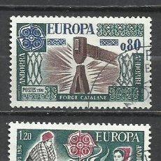 Sellos: 8142-ANDORRA FRANCESA SERIE COMPLETA EUROPA 1976 Nº 253/4. Lote 235548675