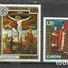 Sellos: 8153-MNH** ANDORRA FRANCESA SERIE COMPLETA EUROPA 1975 Nº 243/4 VALOR 26,25€ NUEVOS. Lote 235549860