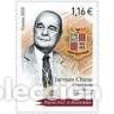 Sellos: SELLO NUEVO DE ANDORRA FRANCESA 2020, JACQUES CHIRAC. Lote 236181560