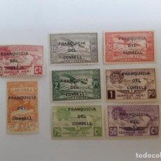 Sellos: AÑO 1932 ANDORRA ESPAÑOLA SELLOS NO EXPENDIDOS FRANQUICIA DEL CONSELL NUEVO. Lote 236369645