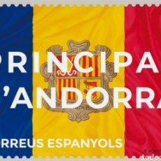 Sellos: ANDORRA ESPAÑOLA 2021 BANDERA SERIE BÁSICA DEFINITIVE - NUEVA MNH. Lote 237212810