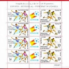 Sellos: 1982 14 MINIPLIEGOS DE OCHO SELLOS ANDORRA MUNDIAL 82 EDIFIL 161 **. Lote 238477870