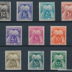Timbres: SELLOS ANDORRE / ANDORRA FRANCESA 1946 Y&T 32 / 41** TAXE. Lote 238855120