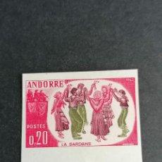 Sellos: ANDORRA FRANCIA O FRANCESA EDIFIL 186 SIN DENTAR AÑO 1963 NUEVO * CHANELA POCO HABITUAL. Lote 239837475