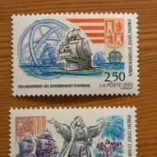 Sellos: ANDORRA FRANCESA, EUROPA, 1992, EDIFIL 437 Y 438, NUEVOS **. Lote 243120090