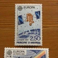 Sellos: ANDORRA FRANCESA, EUROPA, 1991, EDIFIL 423 Y 424, NUEVOS **. Lote 243120315