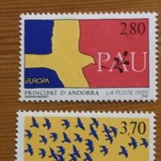 Sellos: ANDORRA FRANCESA, EUROPA, 1995, EDIFIL 477 Y 478, NUEVOS **. Lote 243120865