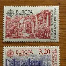 Sellos: ANDORRA FRANCESA, EUROPA, 1990, EDIFIL 409 Y 410, NUEVOS **. Lote 243121100
