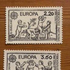 Sellos: ANDORRA FRANCESA, EUROPA, 1989, EDIFIL 399 Y 400, NUEVOS **. Lote 243121250