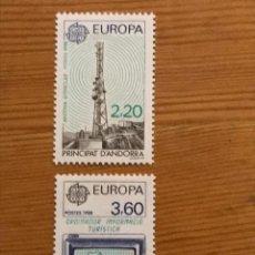 Sellos: ANDORRA FRANCESA, EUROPA, 1988, EDIFIL 390 Y 391, NUEVOS **. Lote 243121505