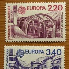 Sellos: ANDORRA FRANCESA, EUROPA, 1987, EDIFIL 379 Y 380, NUEVOS **. Lote 243121785