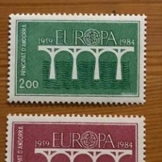 Sellos: ANDORRA FRANCESA, EUROPA, 1984, EDIFIL 350 Y 351, NUEVOS **. Lote 243122135