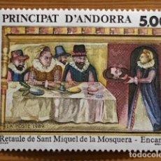 Sellos: ANDORRA FRANCESA, RETABLO DE SAN MIGUEL DE LA BARQUERA, 1989, EDIFIL 405, NUEVOS **. Lote 243122610