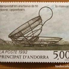 Sellos: ANDORRA FRANCESA, OBRA DE DENNIS OPPENHEIM, 1992, EDIFIL 445, NUEVOS **. Lote 243124455