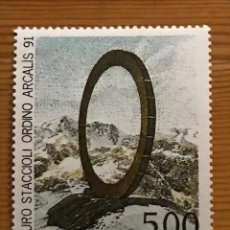 Sellos: ANDORRA FRANCESA, OBRA DE MAURO STACCIOLI, 1992, EDIFIL 444, NUEVOS **. Lote 243126005