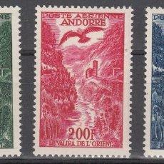 Sellos: ANDORRA FRANCESA - AÉREOS NUMS. A2 - A4 NUEVOS SIN FIJASELLOS .. Lote 243140080