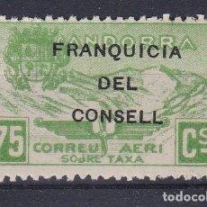Francobolli: NE27 SELLO DE ANDORRA DE PAISAJES DEL AÑO 1932 ** FRANQUICIA DEL CONSELL (NUEVO SIN CHARNELA). Lote 244587640