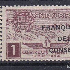 Francobolli: NE28 SELLO DE ANDORRA DE PAISAJES DEL AÑO 1932 ** FRANQUICIA DEL CONSELL (NUEVO SIN CHARNELA). Lote 244881885