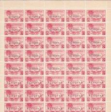 Sellos: MUESTRA - HOJA COMPLETA DE 50 SELLOS DE ANDORRA DEL AÑO 1932 NE13 EN PERFECTO ESTADO DE CONSERVACION. Lote 244976770