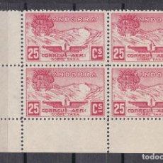 Sellos: NE13 LOTE 4 SELLOS DE ANDORRA DE PAISAJES DEL AÑO 1932 DE 25 CENTIMOS** (NUEVO SIN CHARNELA). Lote 244983610