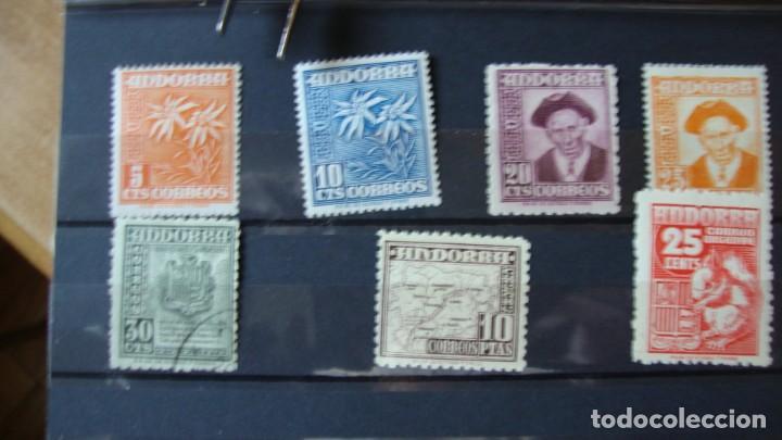 ANDORRA 1948/53 TIPOS DIVERSOS NUEVOS Y USADOS VER DESCRIPCION Y FOTOS (Sellos - Extranjero - Europa - Andorra)