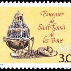 Timbres: [27] 1990 ANDORRA FRANCESA YV 392 SANT ROMA DE LES BONS ** MNH PERFECTO ESTADO (YVERT&TELLIER). Lote 248216715