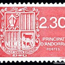 Timbres: [27] 1990 ANDORRA FRANCESA YV 387 ESCUDO DE ANDORRA ** MNH PERFECTO ESTADO (YVERT&TELLIER). Lote 248216760