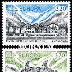 Timbres: [27] 1986 ANDORRA FRANCESA YV 348/349 EUROPA CEPT ** MNH PERFECTO ESTADO (YVERT&TELLIER). Lote 248216775