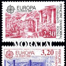 Timbres: [27] 1990 ANDORRA FRANCESA YV 388/389 EUROPA CEPT ** MNH PERFECTO ESTADO (YVERT&TELLIER). Lote 248216900