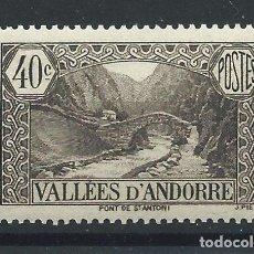 """Timbres: ANDORRE N°62** (MNH) 1937/43 - PAYSAGES """"PONT DE SAINT-ANTOINE"""". Lote 253224240"""