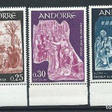 Sellos: ANDORRE N°184/86** (MNH) 1967 - FRESQUES DE LA MAISON DES VALLÉES (I). Lote 253230315
