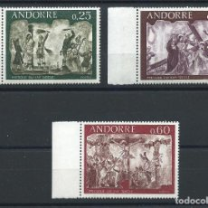 Sellos: ANDORRE N°191/93** (MNH) 1968 - FRESQUES DE LA MAISON DES VALLÉES (II). Lote 253232355