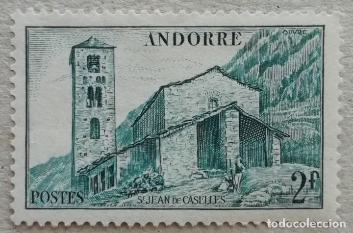 1944. ANDORRA FRANCESA. 103. IGLESIA DE SAN JUAN DE CASELLES. NUEVO. (Sellos - Extranjero - Europa - Andorra)