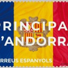Sellos: ANDORRA ESPAÑOLA 2021 BANDERA SERIE BÁSICA DEFINITIVE - NUEVO MNH. Lote 254682955
