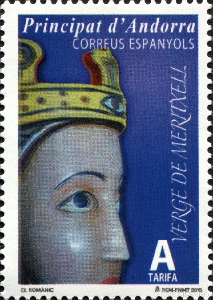ANDORRA 2015 EDIFIL 427 SELLO ** EL ROMANICO VIRGEN DE MERITXELL MICHEL 423 YVERT 413 PRINCIPAT D'AN (Sellos - Extranjero - Europa - Andorra)