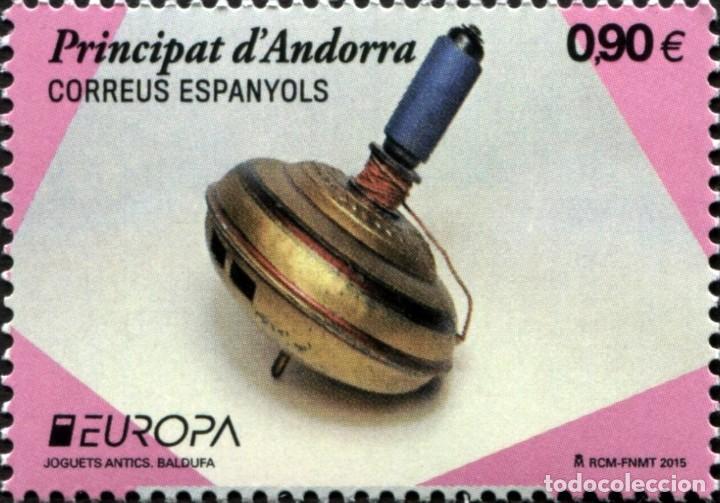 ANDORRA 2015 EDIFIL 430 SELLO ** EUROPA CEPT JUGUETES ANTIGUOS BALDUFA MICHEL 426 YVERT 416 (Sellos - Extranjero - Europa - Andorra)