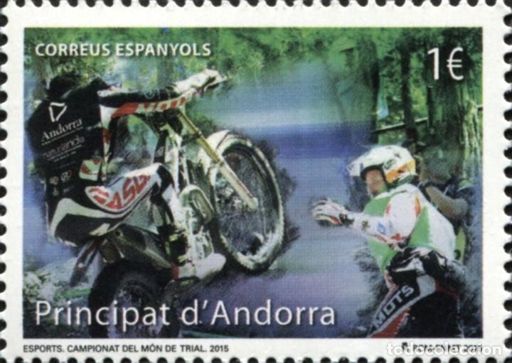 ANDORRA 2015 EDIFIL 432 SELLO ** DEPORTES CAMPEONATO DEL MUNDO DE TRIAL MOTOCICLISMO MICHEL 428 (Sellos - Extranjero - Europa - Andorra)