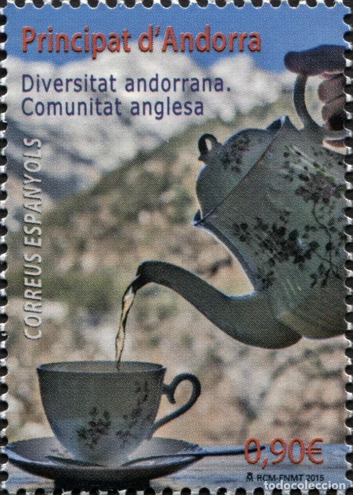 ANDORRA 2015 EDIFIL 433 SELLO ** DIVERSIDAD ANDORRANA COMUNIDAD INGLESA TAZA DE TE MICHEL 429 YVERT (Sellos - Extranjero - Europa - Andorra)