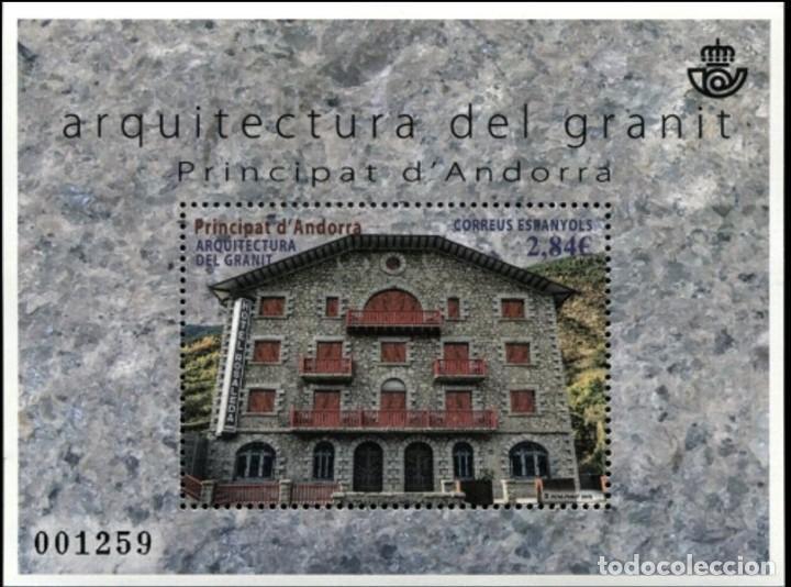 ANDORRA 2015 EDIFIL 436 SELLO ** HB ARQUITECTURA DE GRANITO MICHEL BL10 YVERT 422 PRINCIPAT D'ANDORR (Sellos - Extranjero - Europa - Andorra)