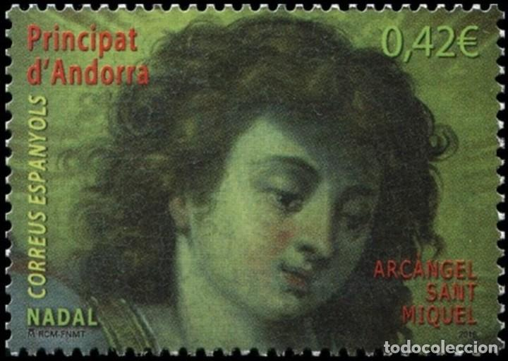 ANDORRA 2015 EDIFIL 437 SELLO ** NAVIDAD CHRISTMAS NADAL ARCANGEL SAN MIGUEL MICHEL 433 YVERT 423 (Sellos - Extranjero - Europa - Andorra)