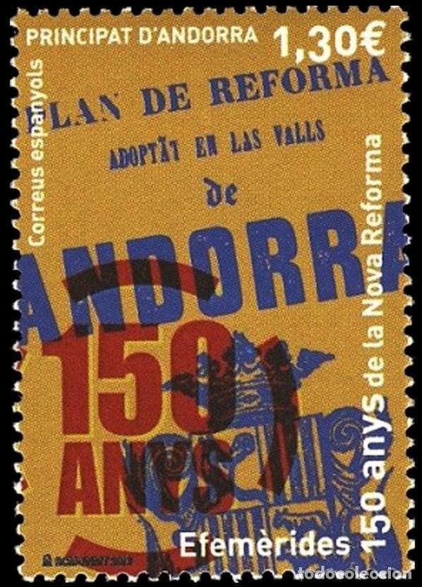 ANDORRA 2016 EDIFIL 447 SELLO ** ANIVERSARIO DE LA NUEVA REFORMA 1866 MICHEL 443 YVERT 433 PRINCIPAT (Sellos - Extranjero - Europa - Andorra)
