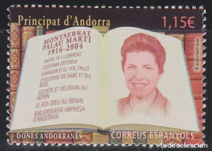 ANDORRA 2016 EDIFIL 450 SELLO ** PERSONAJES MONTSERRAT PALAU MARTI (1916-2004) MICHEL 446 YVERT 436 (Sellos - Extranjero - Europa - Andorra)