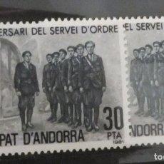 Sellos: 1981 - ANDORRA ESPAÑOLA (50 ANIVERSARI DEL SERVI D'ORDRE). Lote 258840880