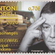 Sellos: ANDORRA ESPAÑOLA 2021 PERSONAJES ANTONI MORELL 1941-2020 NUEVO MNH - NUEVO MNH. Lote 259929960