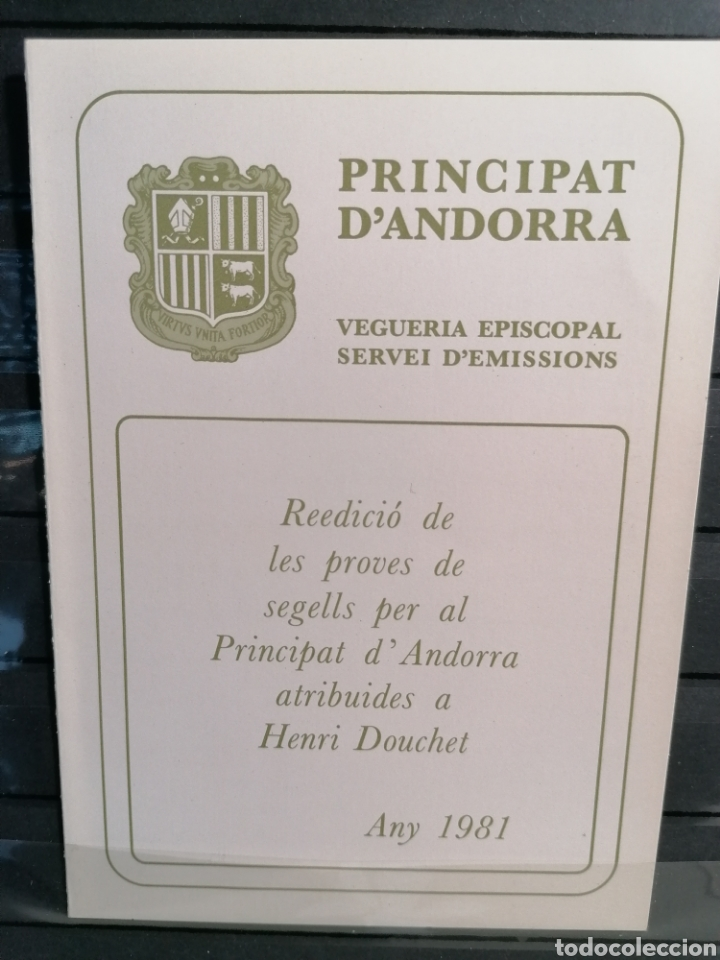 ANDORRA VEGUERIA EPISCOPAL EMISIÓN AUTOCTONA HB EUROPA 79 AÑO 1980 NUEVO *** (Sellos - Extranjero - Europa - Andorra)